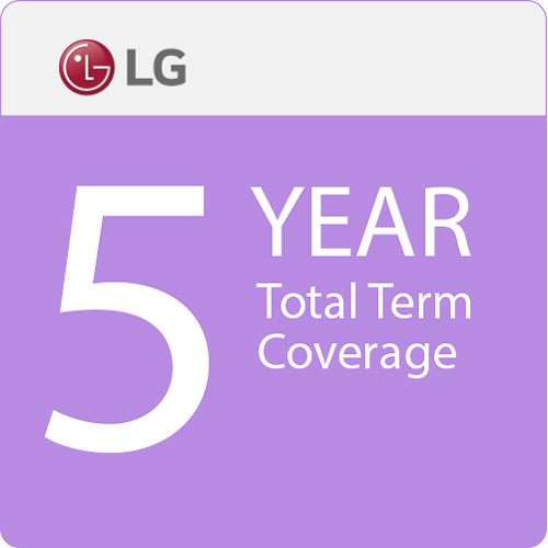 """LG 5-Year Total Term Coverage with 48-Hour Quick Swap Service for 43"""" Small-Format Displays"""