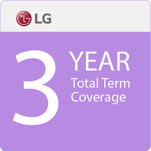 """LG 3-Year Total Term Coverage with 48-Hour Quick Swap Service for 43"""" Small-Format Displays"""