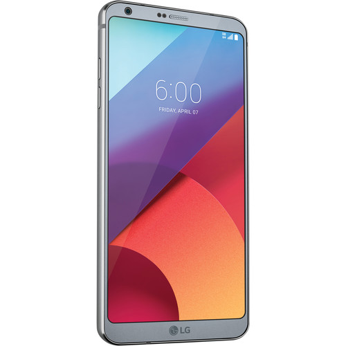 LG Platinum G6 32GB Smartphone Kit with Silver Watch Style (Unlocked)