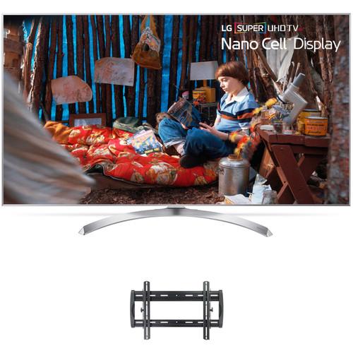 "LG SJ8000-Series 55""-Class HDR SUPER UHD Smart IPS LED TV and Tilting Wall Mount Kit"