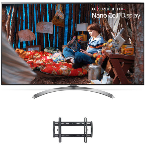 "LG SJ8500-Series 65""-Class HDR SUPER UHD Smart IPS LED TV and Tilting Wall Mount Kit"