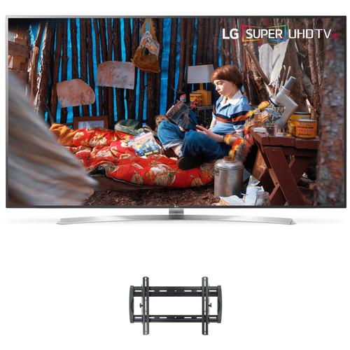 "LG SJ8570-Series 75""-Class HDR SUPER UHD Smart IPS LED TV and Tilting Wall Mount Kit"