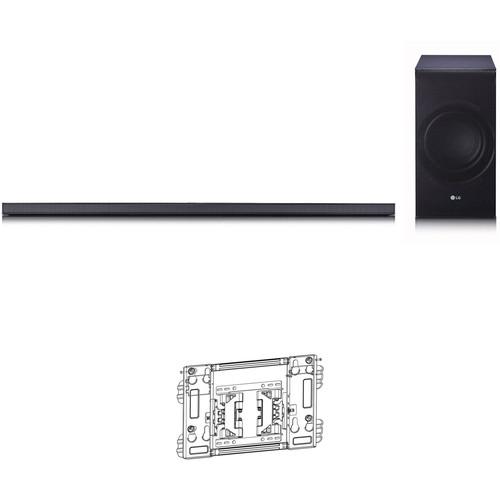 LG SJ8 300W 2.1-Channel Soundbar System and TV Wall Mount Kit