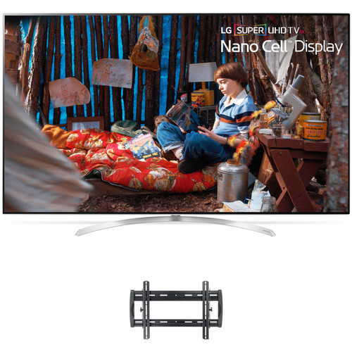 "LG SJ9500-Series 65""-Class HDR SUPER UHD Smart IPS LED TV and Tilting Wall Mount Kit"