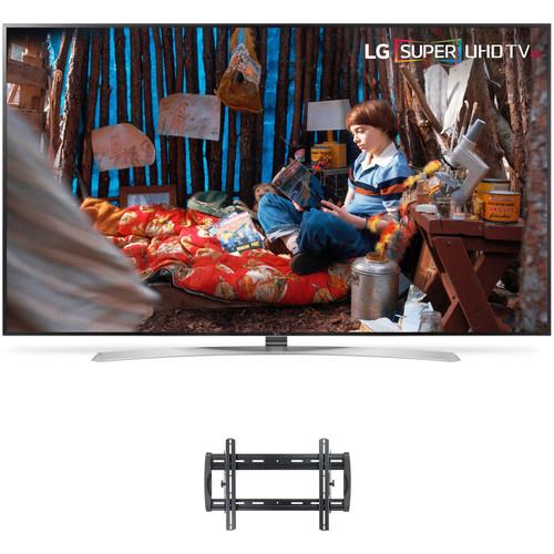 "LG SJ9570-Series 86""-Class HDR SUPER UHD Smart IPS LED TV and Tilting Wall Mount Kit"