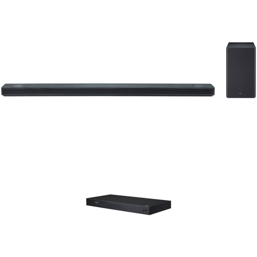 LG SK10Y 550W 5.1.2-Channel Soundbar System and HDR UHD Wi-Fi Blu-ray Disc Player Kit