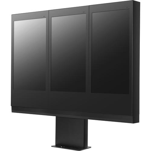 LG ST-493X 3 x 1 Portrait Stand for Three LG 49XEB3E Displays