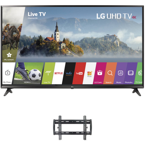 "LG UJ6300-Series 55""-Class HDR UHD Smart IPS LED TV and Tilting Wall Mount Kit"