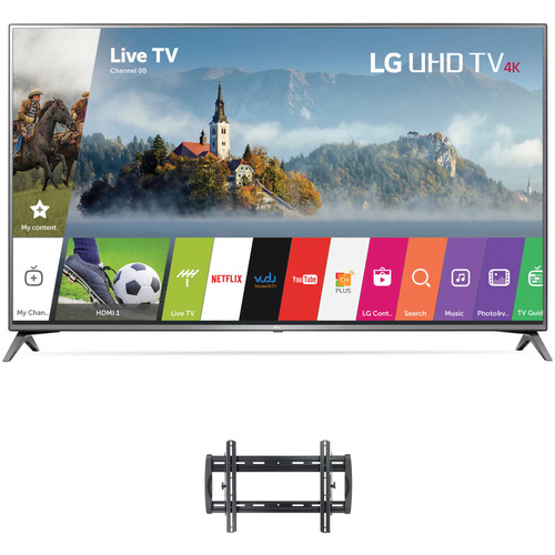 "LG UJ6470-Series 75""-Class HDR UHD Smart IPS LED TV and Tilting Wall Mount Kit"