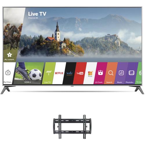 "LG UJ7700-Series 55""-Class HDR UHD Smart IPS LED TV and Tilting Wall Mount Kit"