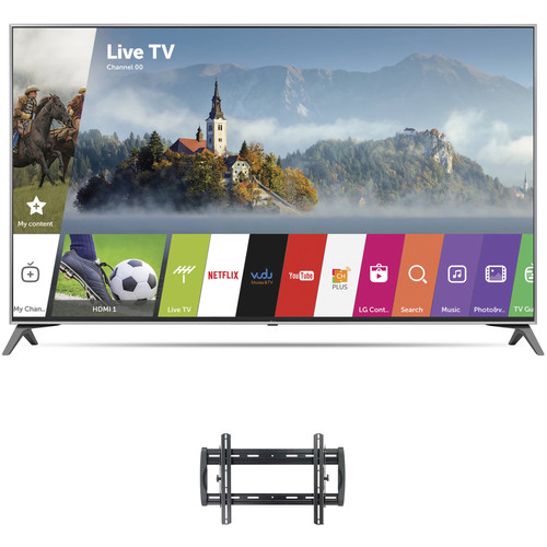 "LG UJ7700-Series 60""-Class HDR UHD Smart IPS LED TV and Tilting Wall Mount Kit"