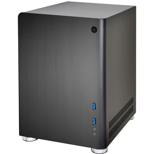 Lian Li PC-Q01B Mini-ITX Tower Desktop Case (Black)