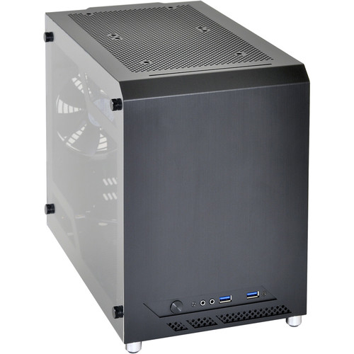 "Lian Li Mini-ITX Chassis with 3.5/2.5"" HDD Bays and USB 3.0 & HD Audio Ports"