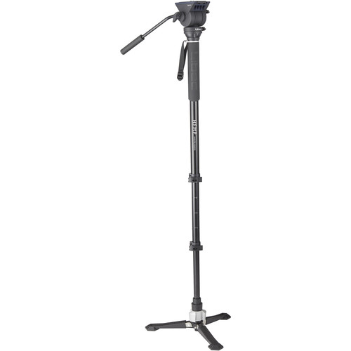 Libec Hands-Free Monopod Kit with TH-X Pan-and-Tilt Video Head and Bowl Clamp