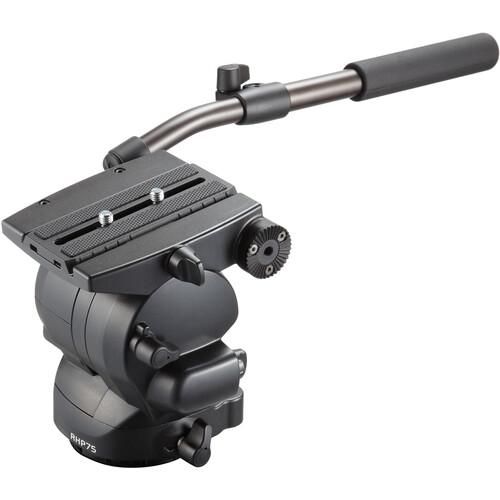Libec RHP75 Fluid Head with PH-8B Extendable Pan Handles