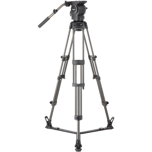 Libec RSP-750C Professional Carbon Piping Tripod System with Floor-level Spreader for ENG Setups
