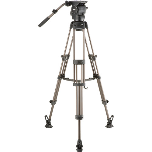 Libec RSP-750M Professional Aluminum Tripod System with Mid-level Spreader for ENG Setups