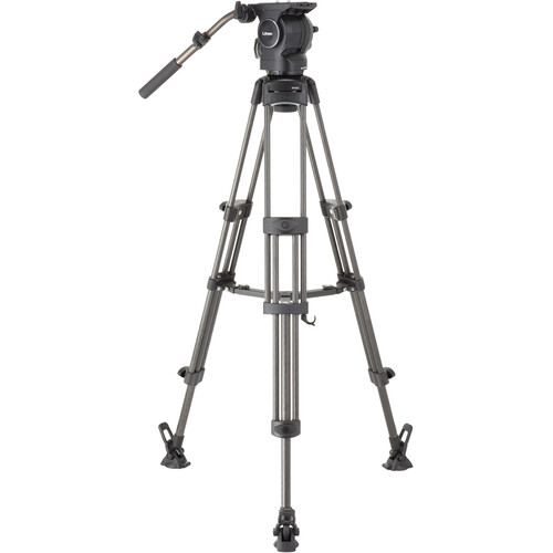 Libec RSP-750MC Professional Carbon Piping Tripod System with Mid-level Spreader for ENG Setups