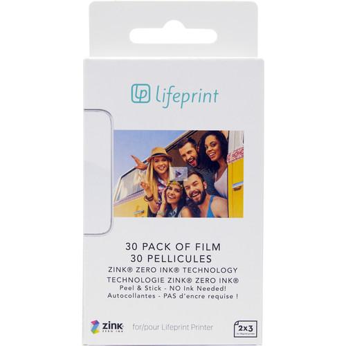 "Lifeprint 2 x 3"" Sticky-Backed Photo Paper (30-Pack)"