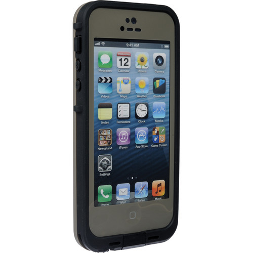 LifeProof frē Case for iPhone 5 (Dark Flat Earth / Black)