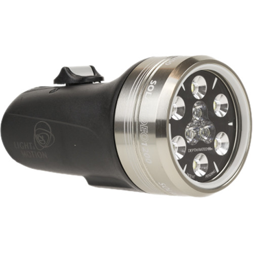 Light & Motion SOLA Video 1200 S/F LED Dive Light (Black, US)