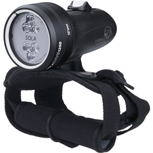 Light & Motion SOLA Dive 1200 Spot LED Light (Black, US)