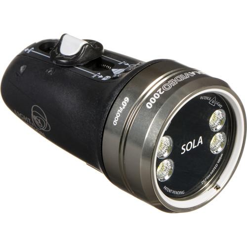Light & Motion SOLA Video 2000 Flood LED Dive Light (Black)