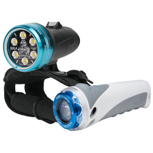 Light & Motion SOLA Dive 1200 S/F and GoBe S 500 Spot LED Light Combo Kit
