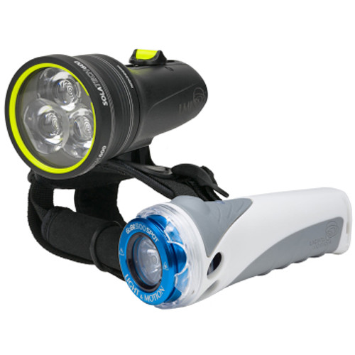 Light & Motion SOLA Tech 600 and GoBe S 500 Spot LED Dive Light Combo Kit