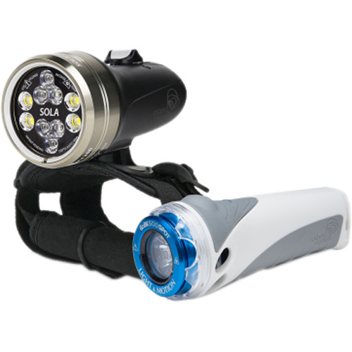 Light & Motion SOLA Dive 2500 S/F and GoBe S 500 Spot LED Light Combo Kit
