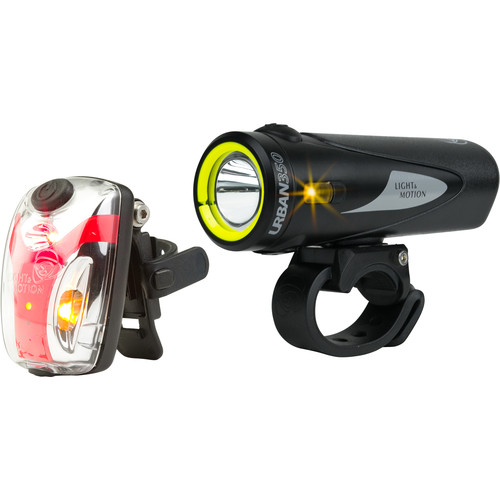 Light & Motion Urban 350 Commuter Combo LED Bike Light Set (Obsidian Stout)
