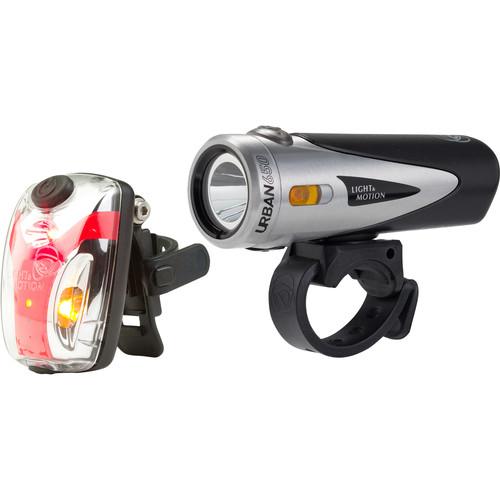 Light & Motion Urban 650 Commuter Combo LED Bike Light Set (Black Nitro)