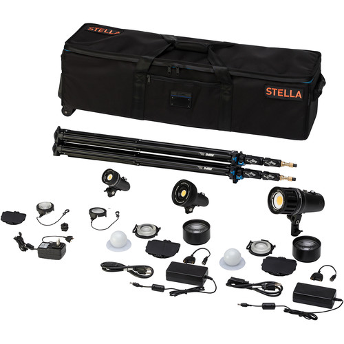 Light & Motion Stella Pro 125 1000/2000/5000 SP 3-Light Kit with Accessories