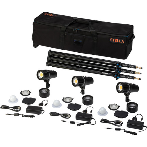 Light & Motion Stella Pro 555 5000 SP 3-Light Kit with Accessories