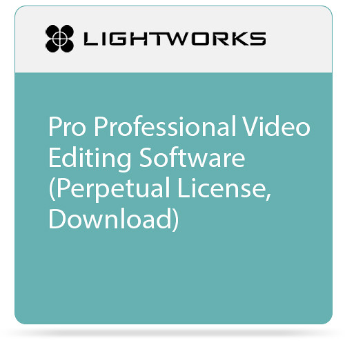 Lightworks Pro Professional Video Editing Software (Perpetual License, Download)