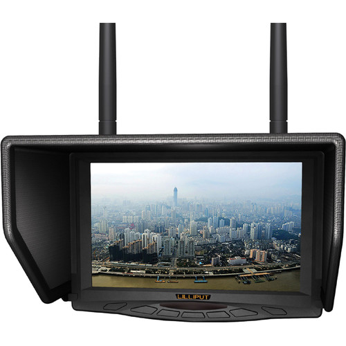 "Lilliput 329/DW 7"" FPV Monitor with Built-in Dual 5.8GHz Wireless Receivers"