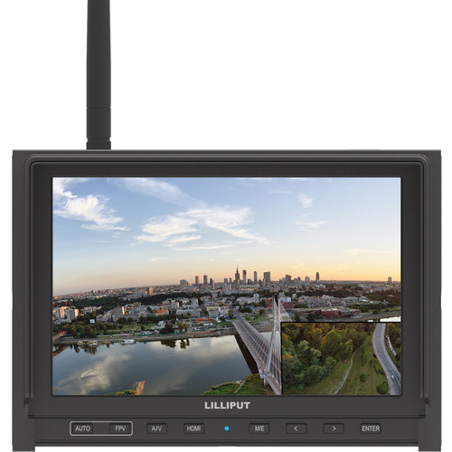"LILLIPUT 339/W 7"" FPV Monitor with Single Built-in 5.8GHz Wireless Receiver (Black)"