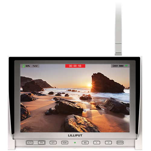 "Lilliput 339/W 7"" FPV Monitor with Single Built-in 5.8GHz Wireless Receiver (White)"