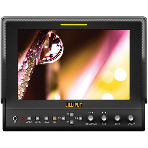 "Lilliput 663/O/P2 7"" LCD On-Camera HDMI Monitor"