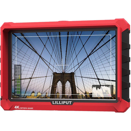 """Lilliput A7S 7"""" Full HD Monitor with 4K Support (Red Case)"""