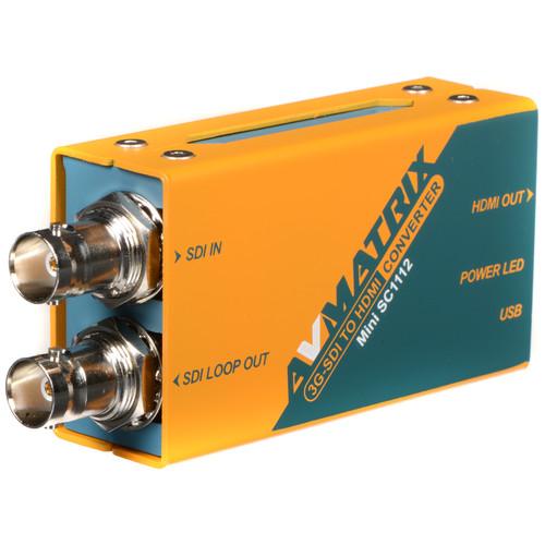 AVMATRIX Mini SC1112 3G-SDI to HDMI Pocket-Size Broadcast Converter
