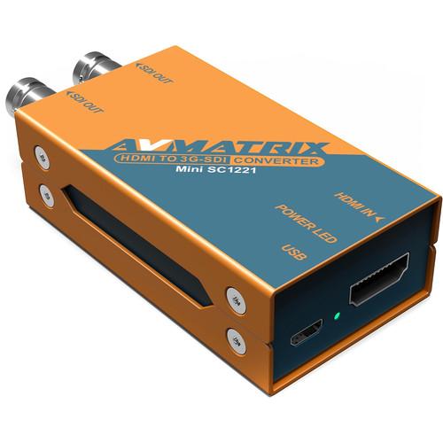AVMATRIX Mini SC1221 HDMI to Dual 3G-SDI Pocket-Size Broadcast Converter