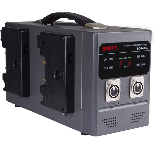 SWIT 4-Bay Simultaneous Li-Ion Battery Charger (Gold Mount)