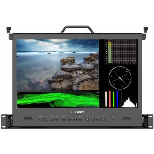 "Lilliput RM-1730S 17.3"" Full HD 3G-SDI/HDMI Pullout Rackmount Monitor (1 RU)"