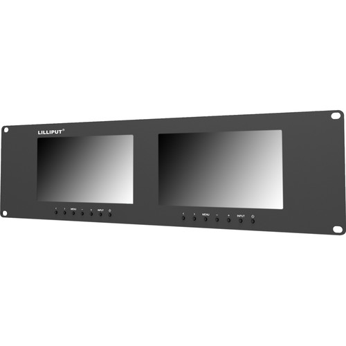 "Lilliput Electronics RM-7024-VD Dual 7"" Rackmount Monitors"