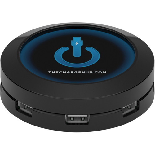 ChargeHub ChargeHub 7-Port USB Universal Charging Station (Round & Black)