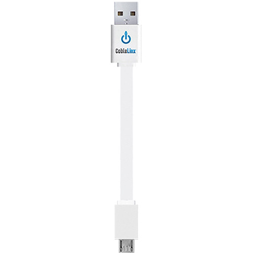"ChargeHub CableLinx micro-USB to USB Charge Cable (3.5"",White)"