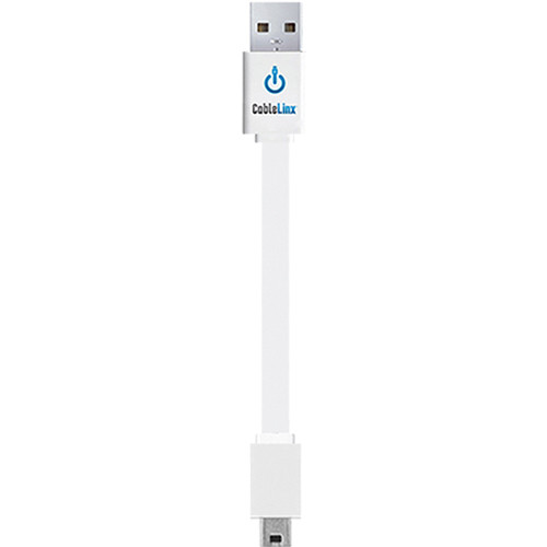 """ChargeHub CableLinx Mini to USB Charge Cable (3.5"""", White)"""
