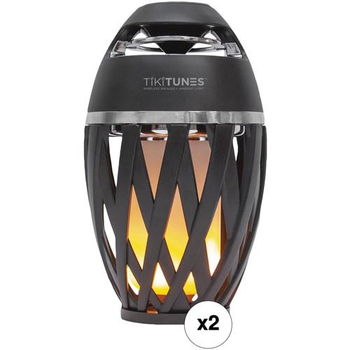 Limitless Innovations TikiTunes Wireless Bluetooth Speaker with LED Atmospheric Lighting Kit (Set of 2)