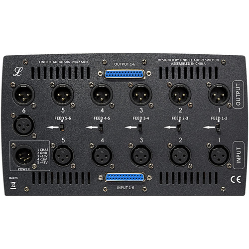 Lindell Audio 506 Power MKII, 6-Slot Chassis for 500 Series Models